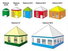 Формы павильонов и палаток
