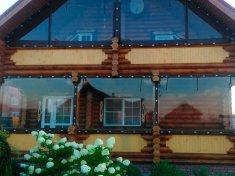 Мягкие окна их ПВХ для частного дома