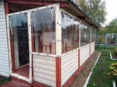 Гибкие окна из ПВХ для дачи