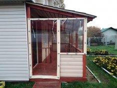 Мягкие окна из ПВХ для загородного дома