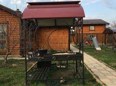 Мангал с ковкой, крышей, жаровней 29000 руб.