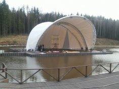 """Покрытие на сценический комплекс на воде """"Ракушка"""" 450 руб. кв.м."""