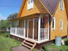 Мягкие окна в загородном доме