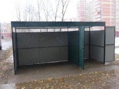 Ограждение для мусорных баков 9000 руб за контейнер.